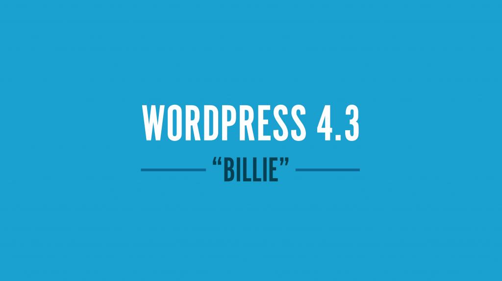 WordPress-4-3-billie