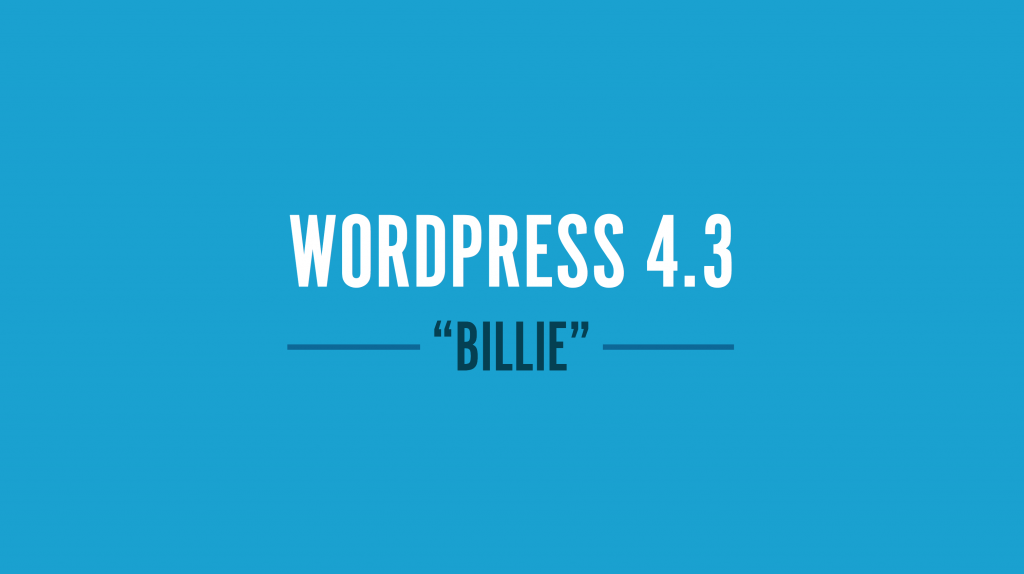 WordPress-4-3-billie